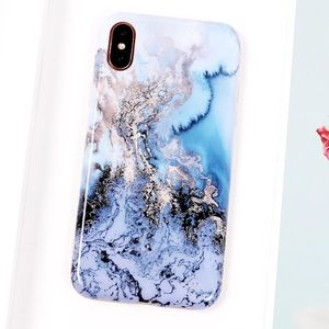 Accessories - NEW iPhone X/XS/7+/8+ Glossy Marble Soft IMD Case